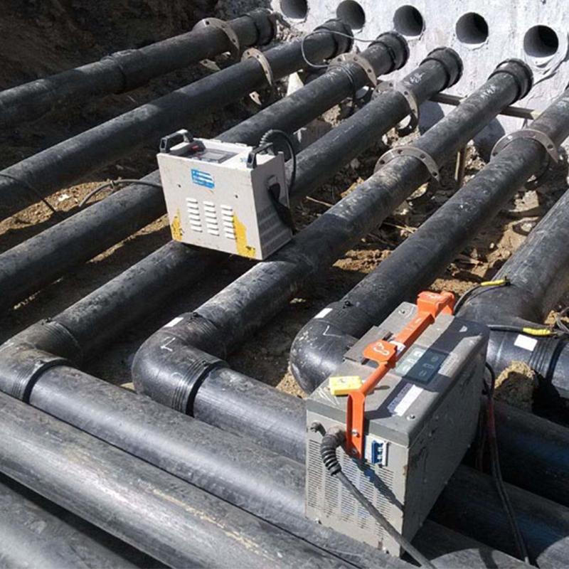 PE矿用管组装